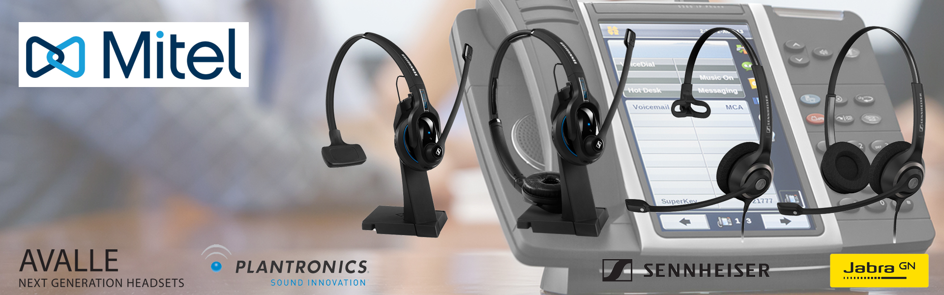 Headsets for Mitel