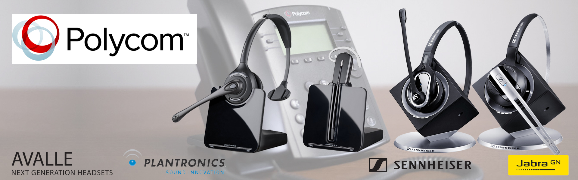 Headsets for Polycom